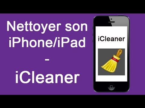 nettoyer son iphone ipad avec icleaner youtube. Black Bedroom Furniture Sets. Home Design Ideas
