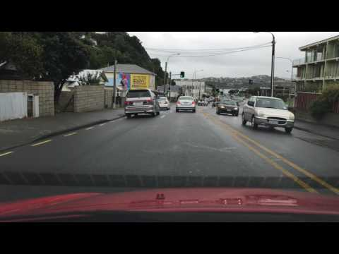 Driving In Wellington New Zealand From Vivian St To Kilbirnie UHD 4K