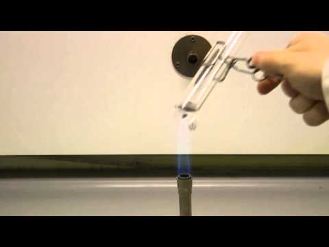Heating substances in a test tube