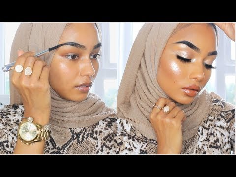 FULL COVERAGE GLOWY EID MAKEUP LOOK | NO EYESHADOW