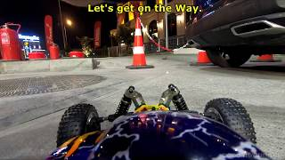 RC Car Crash on Real Car Traffic! - HSP RC Buggy 1:8 Scale for Kids Play - Banggood 13th Anniversary