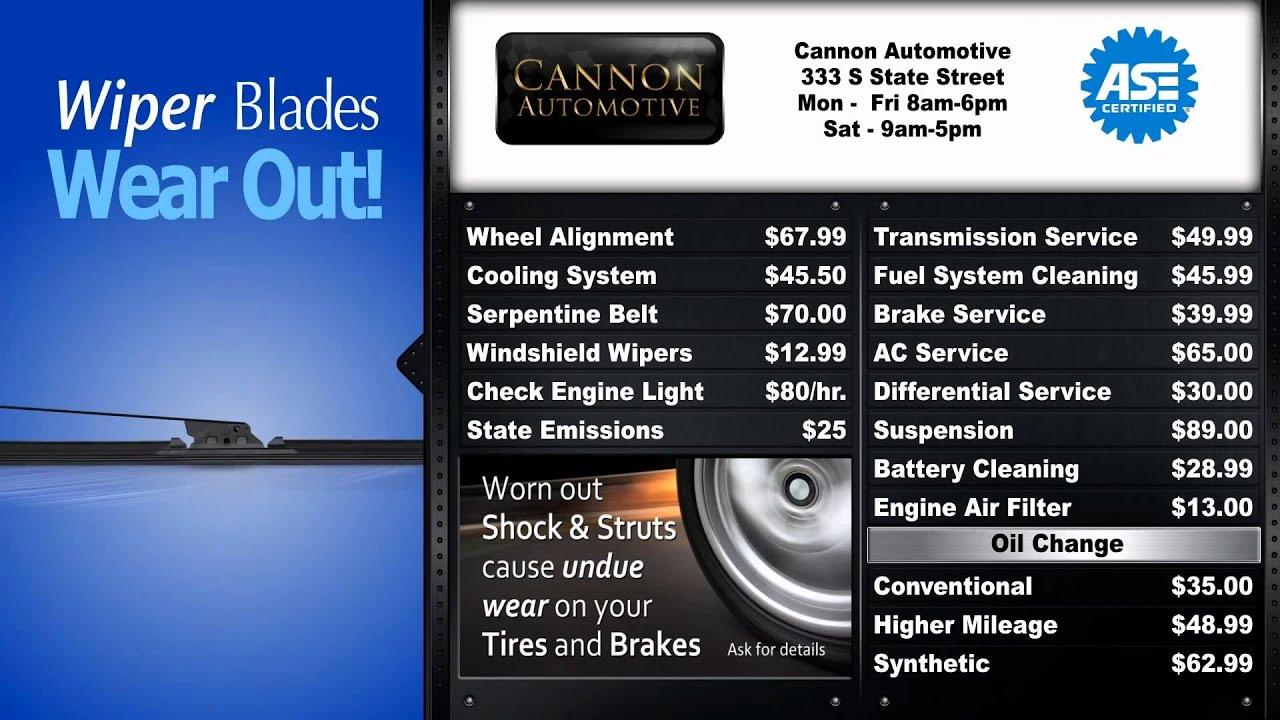 Automotive Repair Digital Menu Board Youtube