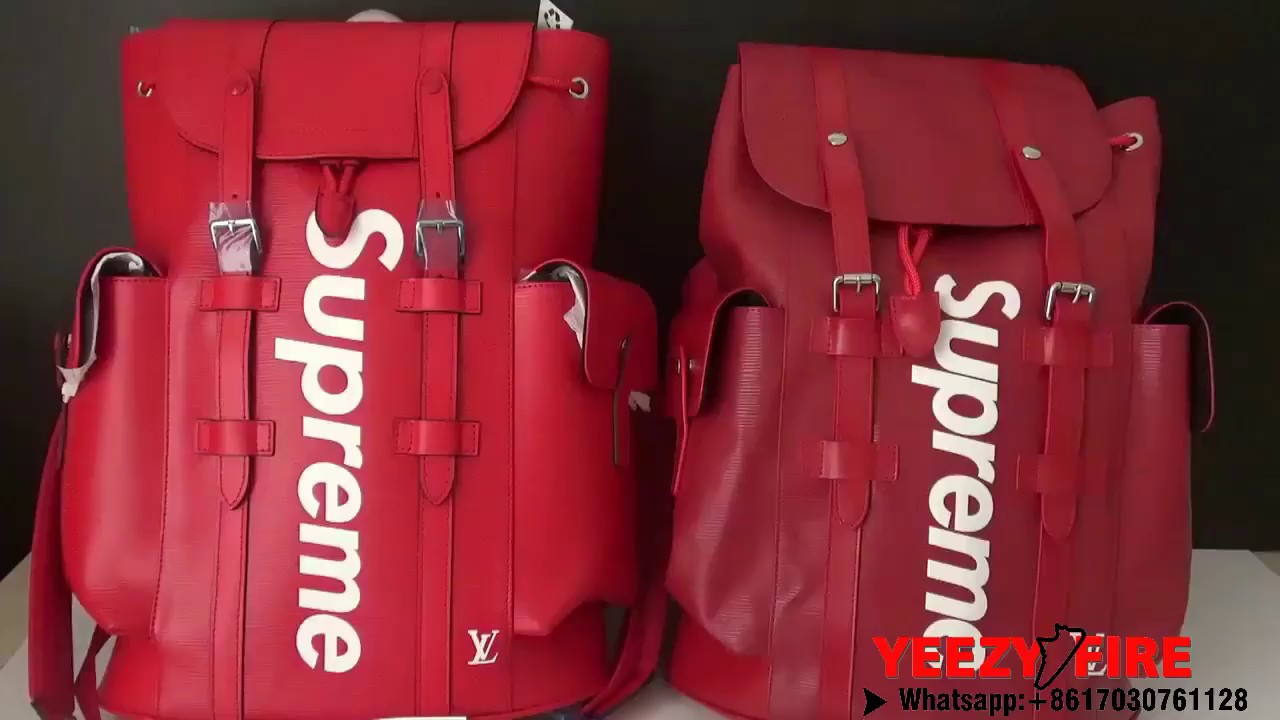 29ba4cb57b127 REAL VS FAKE  Louis Vuitton x Supreme Backpack