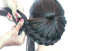 new hairstyle for girls || party hairstyle || ladies hair style || braided hairstyle || hairstyle