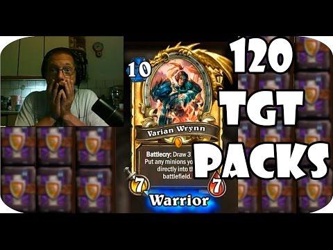 Hearthstone TGT 120 Card Packs | 9 Legendaries | 1 Golden Legendary