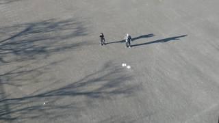 ミニドローンDOBBYの初飛行デビュー(バードビュー映像30秒)