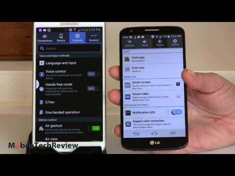 Samsung Galaxy Note 3 vs. LG G2 Comparison Smackdown