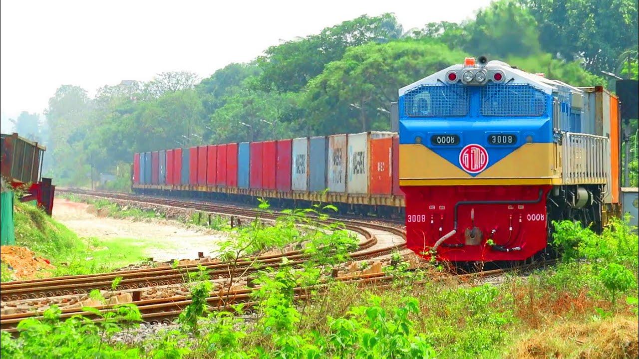 South Korean New Locomotive 3008 First Run on Freight Train || কোরিয়ান নতুন ইঞ্জিন