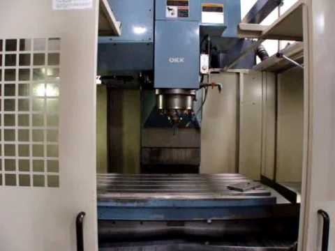 Online Auction OKK VM7 CNC Vertical Machining Center - YouTube