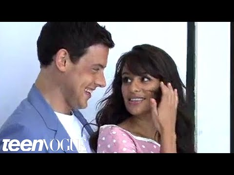 Behindthes of Lea Michele and Cory Monteith's Teen Vogue Cover Shoot