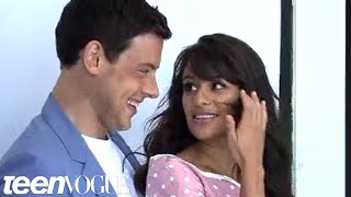 Behind-the-Scenes of Lea Michele and Cory Monteith