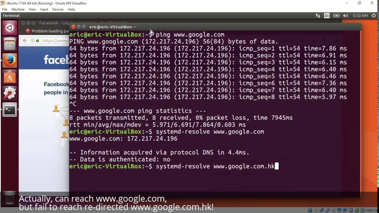 Internet problem in Ubuntu 17 04, some sites cannot be reached! and how to  fix