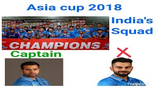 India's squad for Asia cup 2018