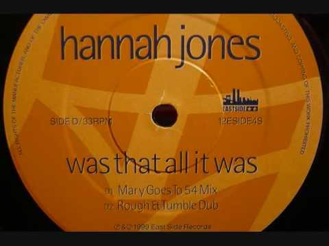 Hannah Jones - Was That All It Was - 1999