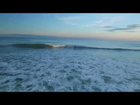 Drone Over Waves