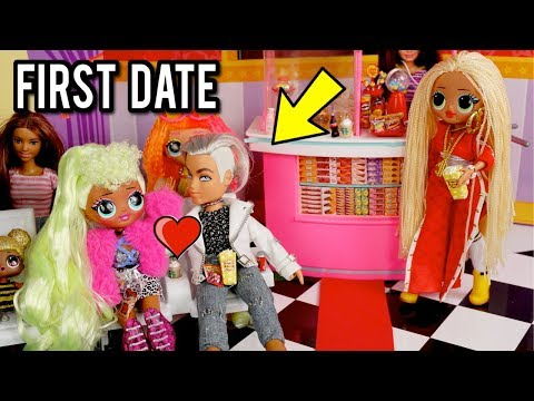LOL OMG Doll Family - First Date at Barbie Movie Theater