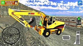 Excavator construction car game Quarry Driver 3: Giant Trucks- Android Gameplay HD #6