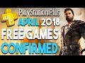 PS Plus APRIL 2018 FREE Games CONFIRMED - Another Great Month! BIG PS4 RPG CONFIRMED for 2018