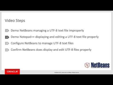 Configuring NetBeans to Manage UTF-8