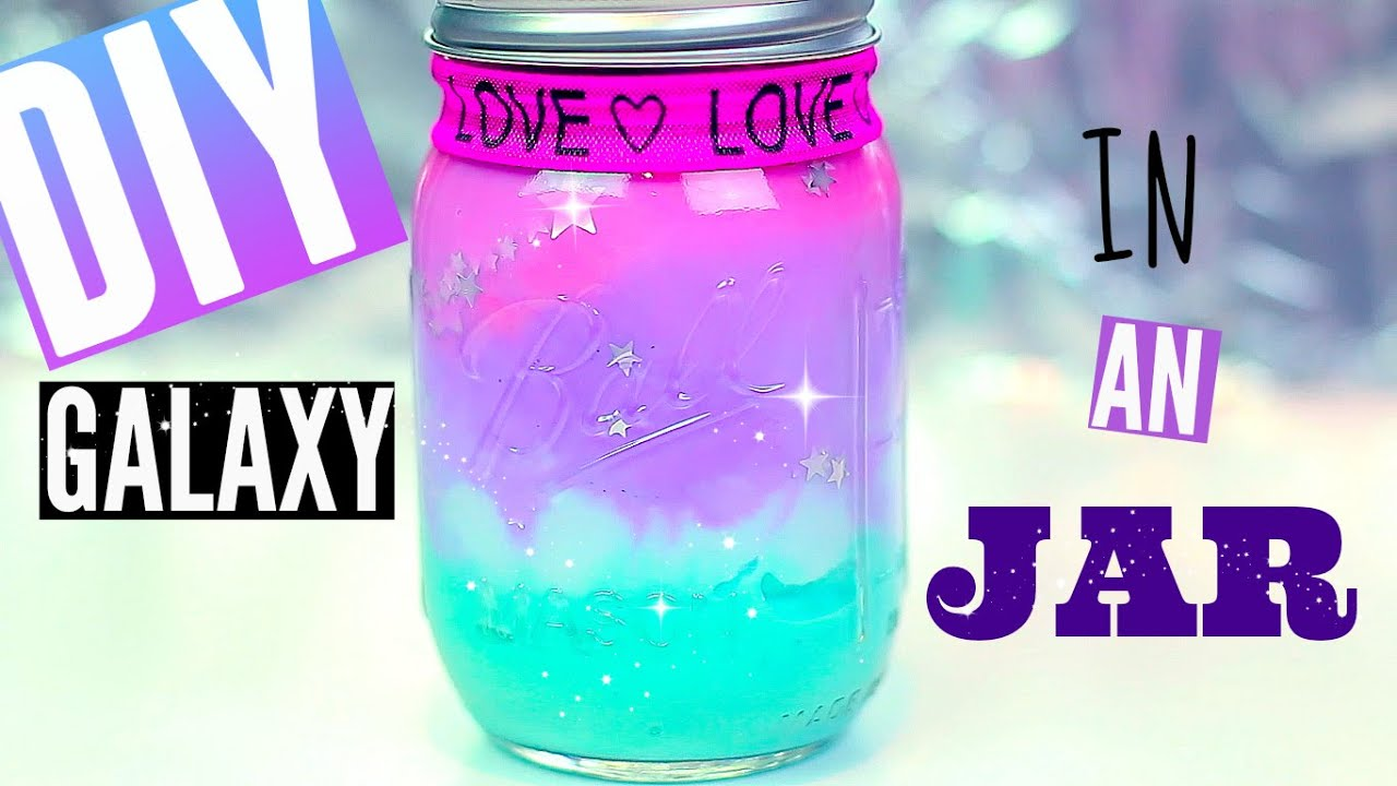 diy galaxy in a jar-with pastel colors | pinterest & tumblr room