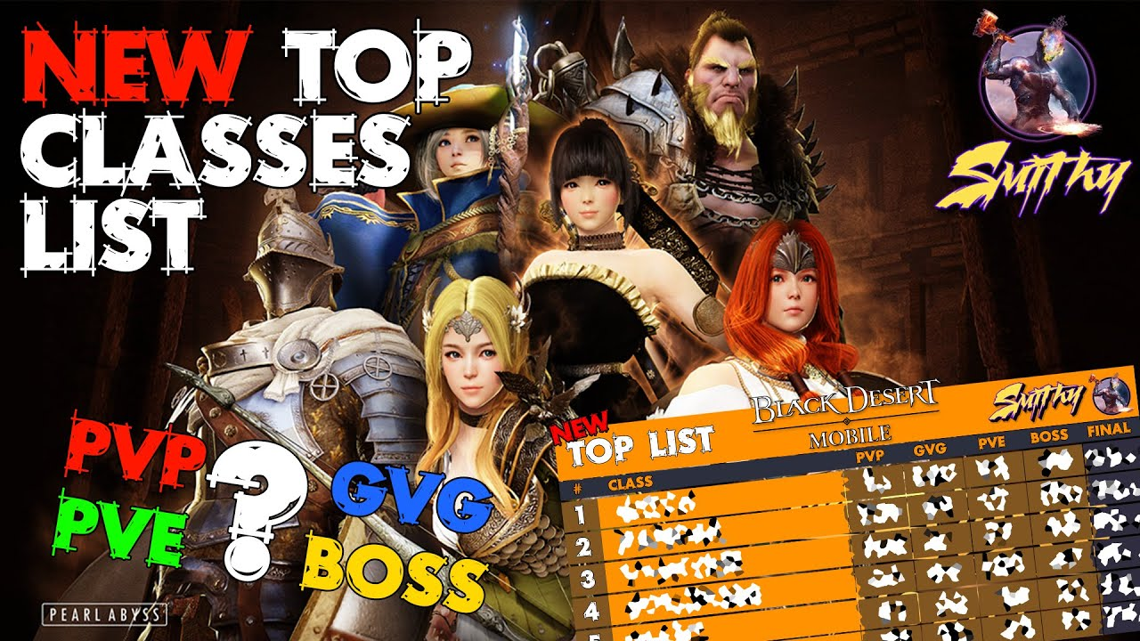 Bdo Best Pvp Class 2021 📋TOP CLASS, BEST CLASS   New Classes Ranking by Smithy   Black