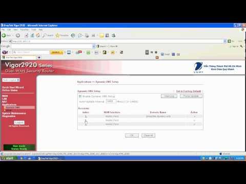 Danatel.com.vn - Cách NAT port trong modem