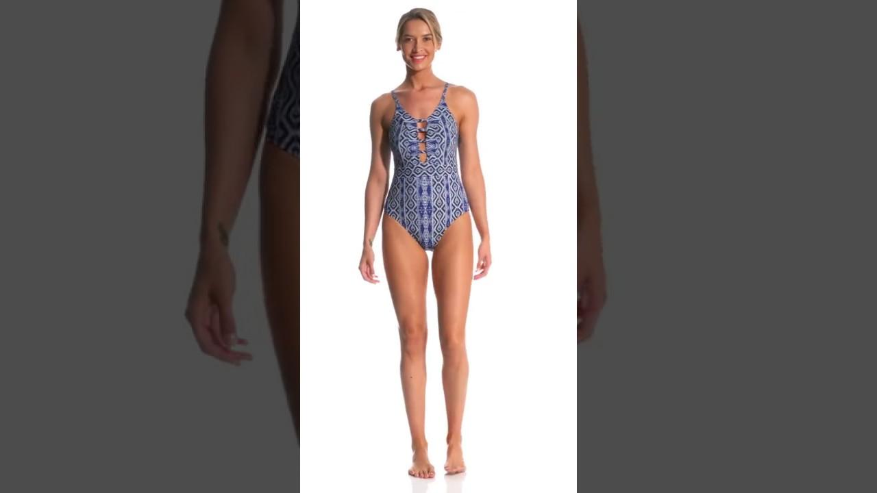 dd721a8ce98 La Blanca Designer Jeans Keyhole One Piece Swimsuit | SwimOutlet.com ...