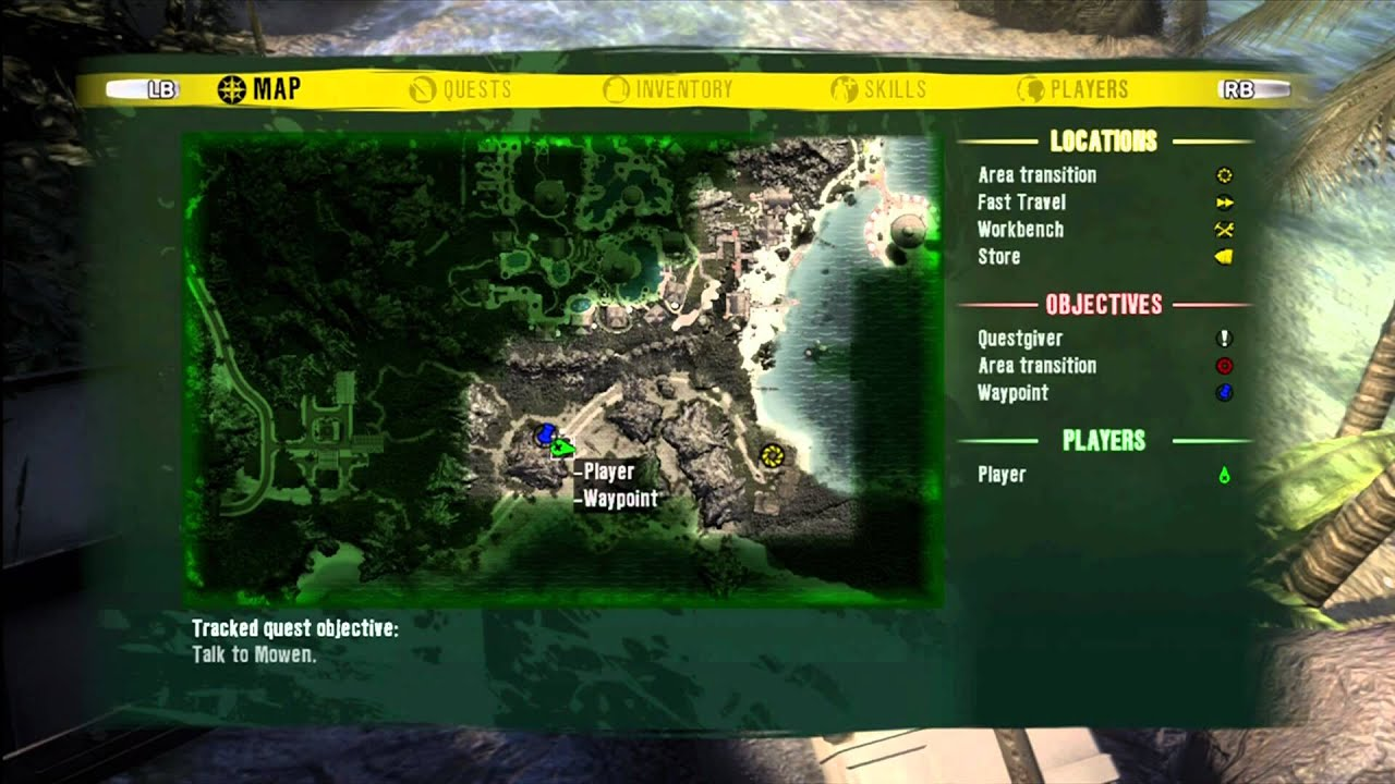 Dead Island  Locations Map