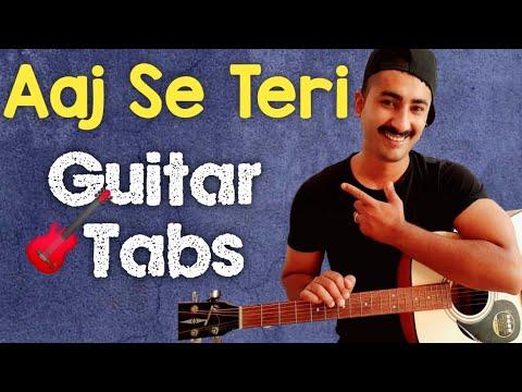 aaj se teri Padman guitar tabs/lead (instrumental cover)