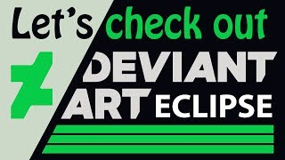 Checking out the new DeviantArt Eclipse thumbnail