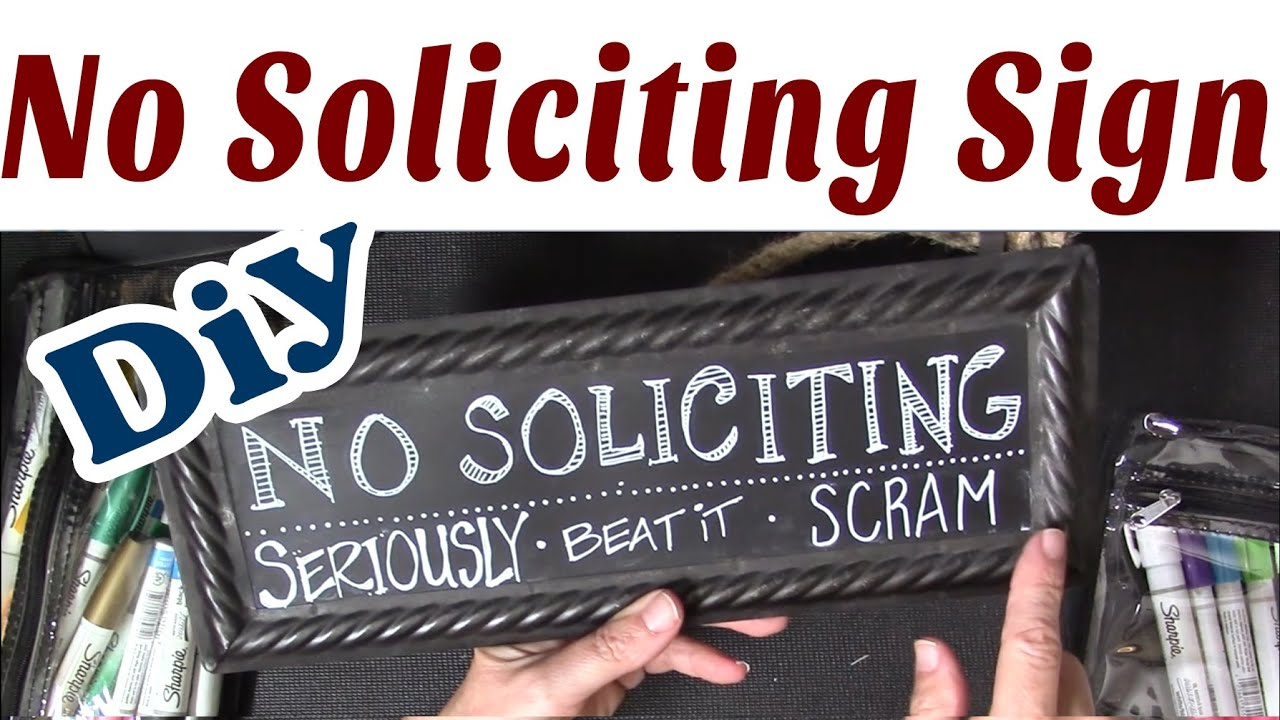 Fresh DIY Hand Lettered No Soliciting Sign - YouTube DF59