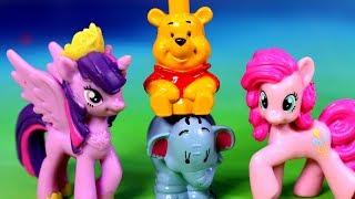Jajka Niespodzianki - My Little Pony & Kubuś Puchatek Disney - bajka po polsku