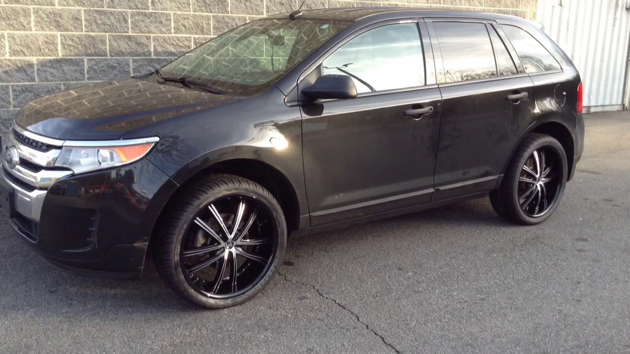 Ford Edge Sitting On  Crave No  Black And Machine Wheels And  Federal Tires