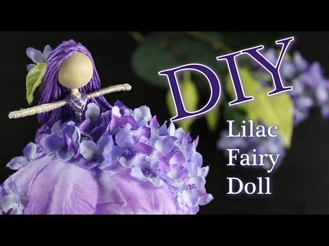 DIY Lilac Fairy Doll   How To Make A Doll   Untidy Artist
