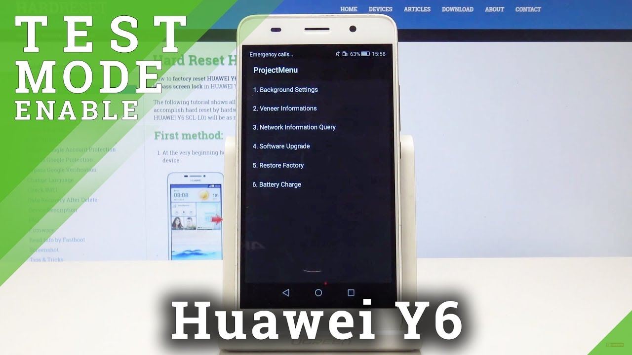 How to Enter Project Menu in Huawei Y6 - Test Mode / Engineering Mode