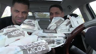 Taco Bell Fiery Doritos Tacos Eating Challenge Hodgetwins