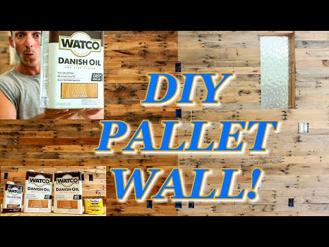 DIY Pallet Wall Tips and Tutorial on building and Finishing with Danish oil! Reclaimed Wood project!