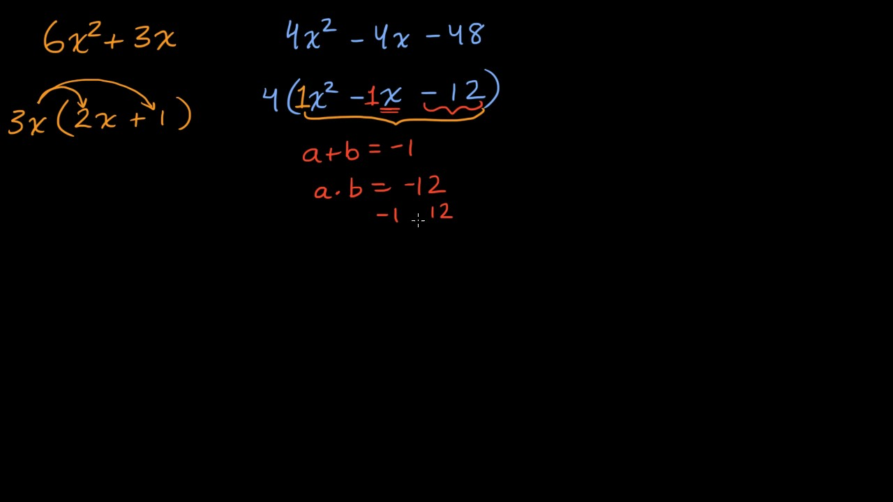 Strategy in factoring quadratics (part 1 of 2) (video) | Khan Academy