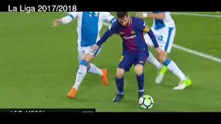 3 goles de Messi vs Leganés, FC Barcelona 3 - 1 Leganes, La liga 2017/ 2018