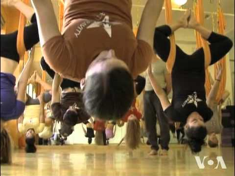 Exercise That Allows People to Hang Upside Down Gains Popularity