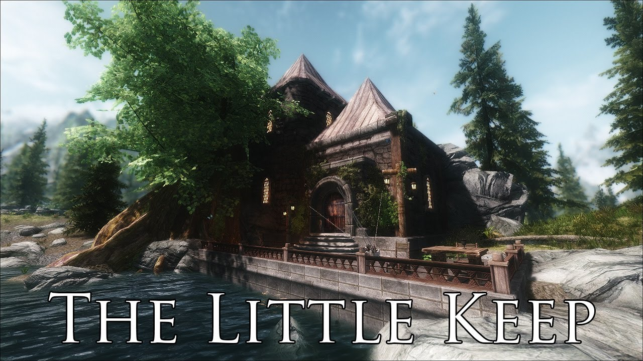 Tes v skyrim mods the little keep starter player home for Best house designs skyrim