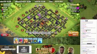 ANGRIFFE & LIVE CLAN WAR!    CLASH OF CLANS    Twitch Stream vom 15.6. #2 [Deutsch/German HD]