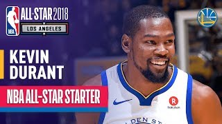 Kevin Durant 2018 All-Star Starter | Best Highlights 2017-2018