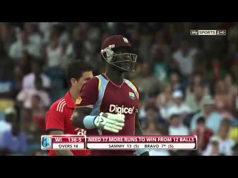 Darren Sammy 30 off 9 Balls Vs England 2nd T20I 2014 HD