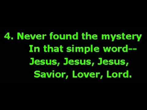 Hymn 287 Jesus Jesus sweetest name on earth