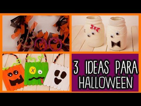 Decoraciones para Halloween 3 Ideas fáciles - Manualidades para Halloween - DIY | Catwalk