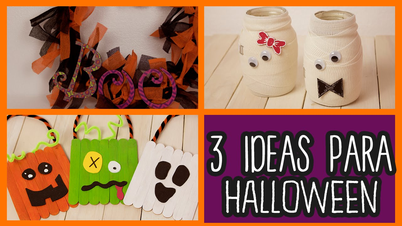 Decoraciones para halloween 3 ideas f ciles manualidades for Decoracion de halloween
