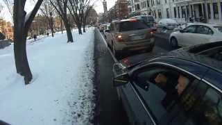 Asshole driver doesn't believe in bike lanes.
