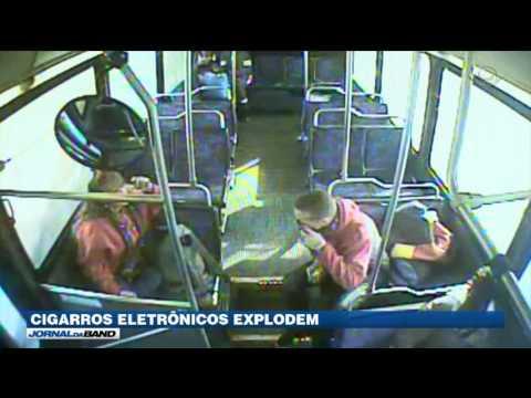 Câmeras flagram cigarros eletrônicos explodindo