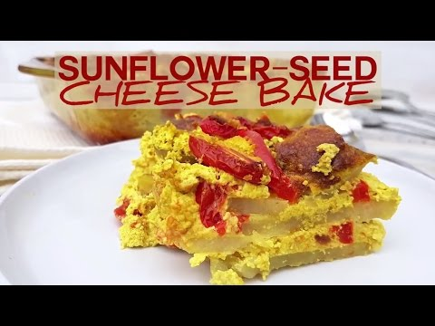 Sunflower Seed Cheese And Tomato Potato Bake Recipe - Dairy Free, Vegan, Gluten Free And Healthy